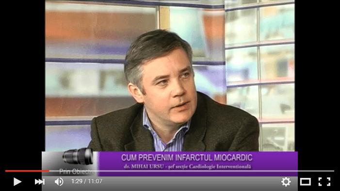 Cum prevenim infarctul miocardic – Interviu cu dr. Mihai Ursu