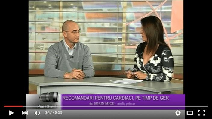 Recomandari pentru cardiaci, pe timp de ger – Interviu cu dr. Sorin Micu