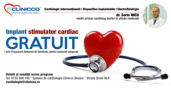 La Clinicco Brasov pacientii beneficiaza de stimulatoare cardiace gratuite