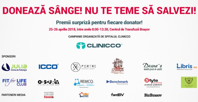 Clinicco a organizat cea de a VI-a editie a campaniei Doneaza sange! Nu te teme sa salvezi!