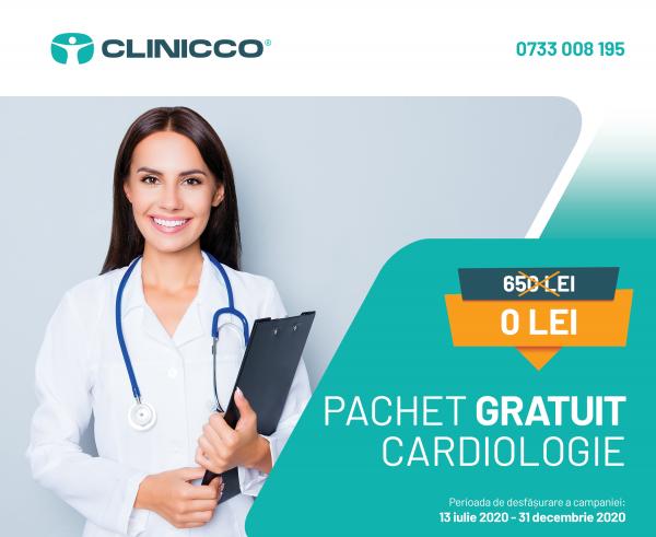 Pachet gratuit de investigații cardiologice în regim de spitalizare de maxim 24 de ore